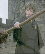 Daniel Radcliffe as Harry Potter on BBC's Newsround