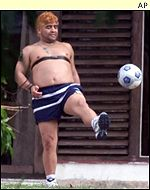 Diego Maradona's weight ballooned after he stopped playing