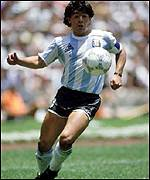 Diego Maradona shone for Argentina in two World Cups