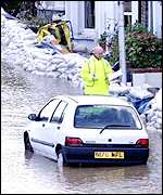 Flood in Cambridge, 2001