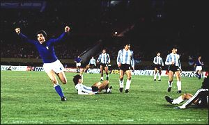 Roberto Bettega's group phase goal for Italy was enough to inflict the only defeat on Argentina