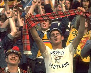 Many Scotland fans make the long trip to Argentina for the 1978 World Cup
