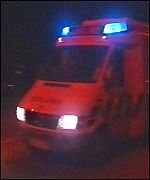 Ambulance at Port Talbot steelworks