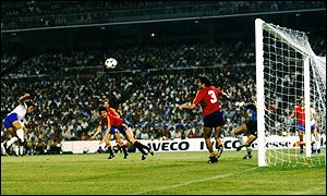 Kevin Keegan (left) fails to hit the target against Spain and England are eliminated after a 0-0 draw