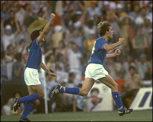 Marco Tardelli's celebration after scoring in the final creates one of the best known images of the World Cup