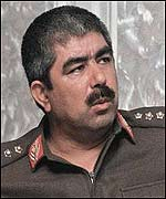 Northern Alliance commander General Abdul Rashid Dostum