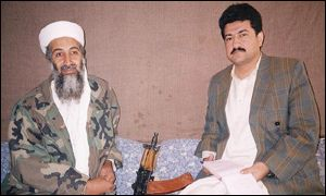Osama Bin Laden with Hamid Mir