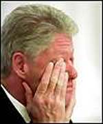 [ image: Bill Clinton: no escaping scandal]