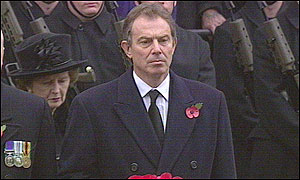 Tony Blair and Baroness Thatcher.