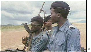 Angolan government troops