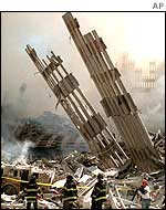 Wreckage of World Trade Center