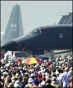 Crowds at an airshow