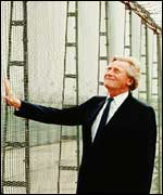 Michael Heseltine at Greenham Common airbase