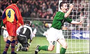 Mark Kinsella takes over from the injured Roy Keane