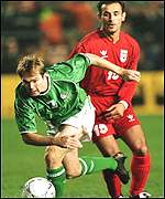 Jason McAteer won the Republic of Ireland's first half penalty on Saturday