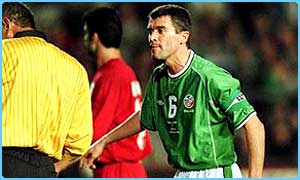 Roy Keane in action