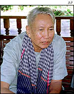 Pol Pot, pictured in January 1998