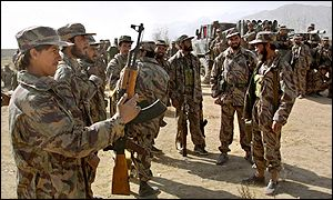 Northern Alliance soldiers outside of Kabul