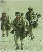 US troops during the Gulf War
