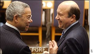 US Secretary of State Colin Powell and Russian Foreign Minister Igor Ivanov