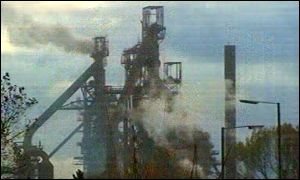 The Corus steel plant in Port Talbot