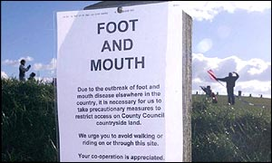 Warning sign at National Trust beauty spot
