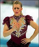 Tearful Tonya Harding at the 1994 Winter Olympics