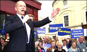 William Hague during the general election
