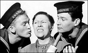 Peggy Mount with Gordon Jackon and Ronald Lewis
