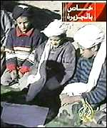 Al-Jazeera footage of three boys reported to be Bin Laden's sons