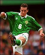 Barry Hunter in action for Northern Ireland