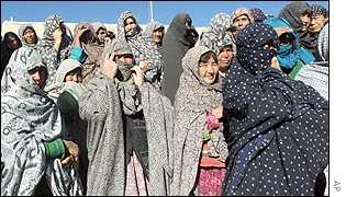 Ethnic Hazara refugees from Bamiyan