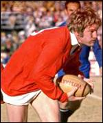 Derek Quinnell in action for the 1974 Lions against South Africa