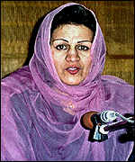 Jamila Mujahid, Afghan newscaster, announcing the fall of Kabul