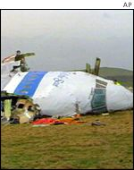 The Lockerbie crash scene