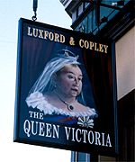 The Queen's ancestor is the pub patron