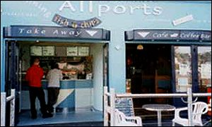 Allports fish and chip shop