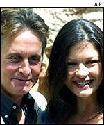 Michael Dougals and Catherine Zeta Jones