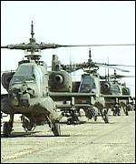 US helicopters in Saudi Arabia during the Gulf War