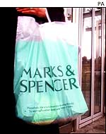 Marks and Spencer's shopping bag
