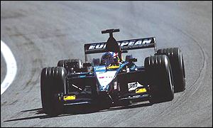 Fernando Alonso in action for Minardi