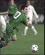 Ireland's Robbie Keane looked lively early on