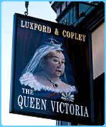 Queen Vic sign from EastEnders