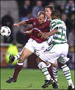 Kevin McKenna toils away for Hearts