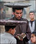 Bread sellers in Afghanistan