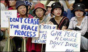 Naga women at a peace rally