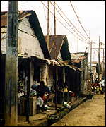 Slum area of Equatorial Guinea