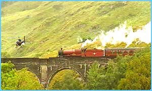 Filming the Hogwarts Express from the air