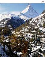 The Swiss resort of Zermatt