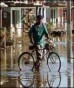 Flooding after Hurricane Michele